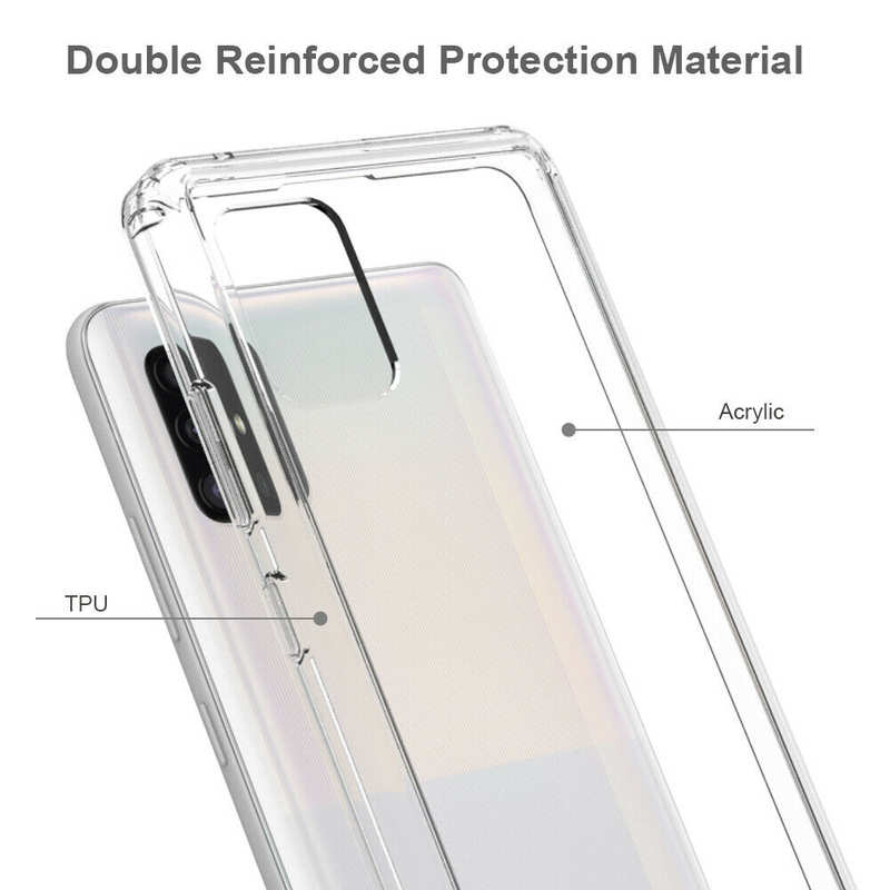 best price For Samsung Galaxy A71 5G UW Phone Case Clear Acrylic Shockproof Bumper Cover