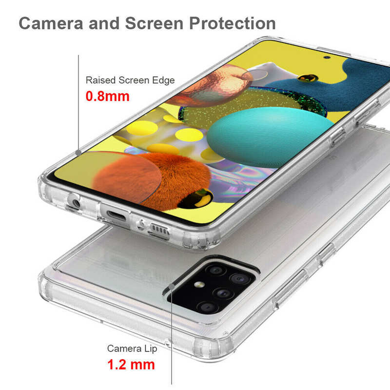 on sale For Samsung Galaxy A71 5G UW Phone Case Clear Acrylic Shockproof Bumper Cover