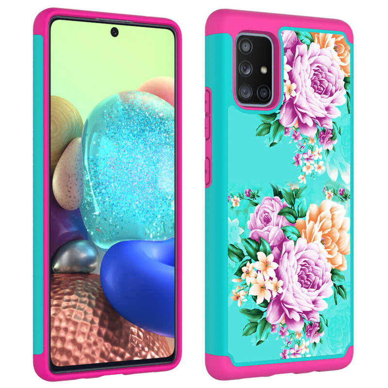 discount For Samsung Galaxy A11 A21 A71 5G UW Heavy Duty Dual Layer Protective Hard Case