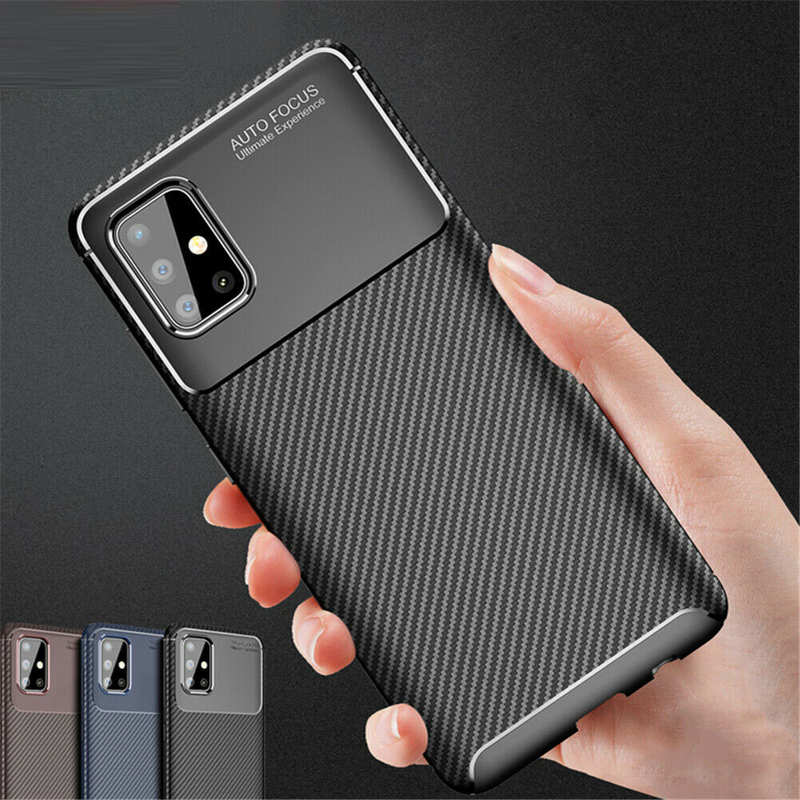 wholesale For Samsung Galaxy S20 FE 5G UW Plus Ultra Case Carbon Fiber Soft TPU Phone Cover