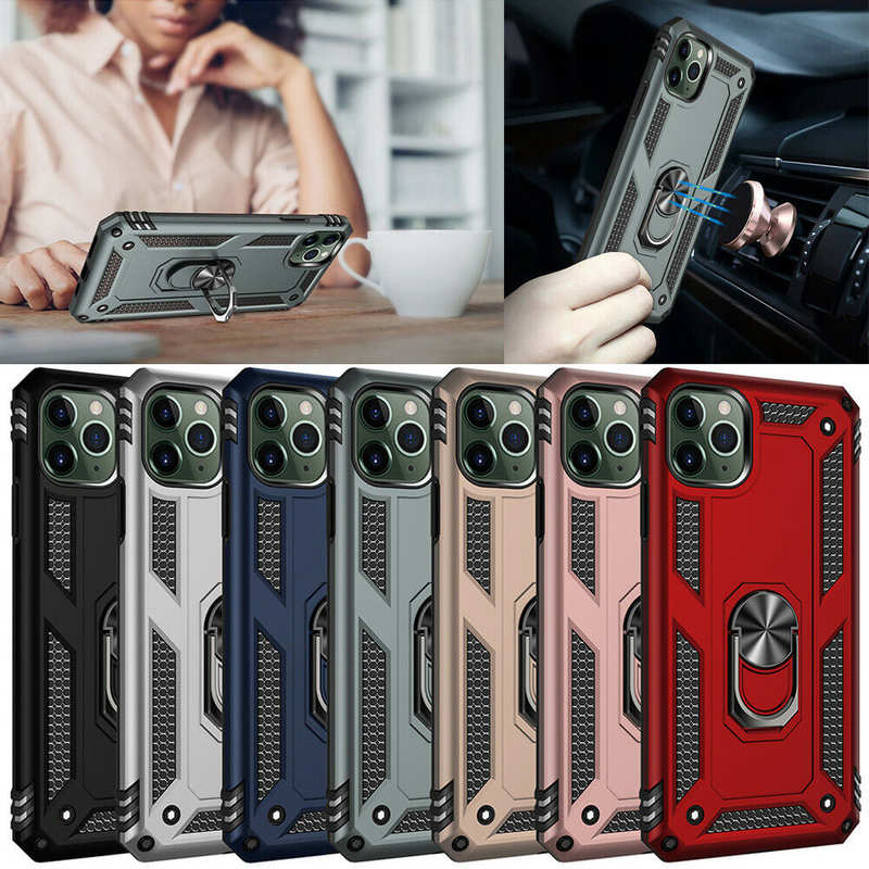 wholesale For iPhone 12 Pro Max 12 Mini Shockproof Magnetic Ring Holder Case Rugged Cover
