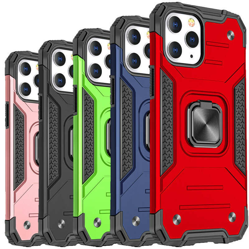 wholesale Case For iPhone 12 Pro Max 11 XR XS Shockproof Rugged 360 Magnetic Ring Cover