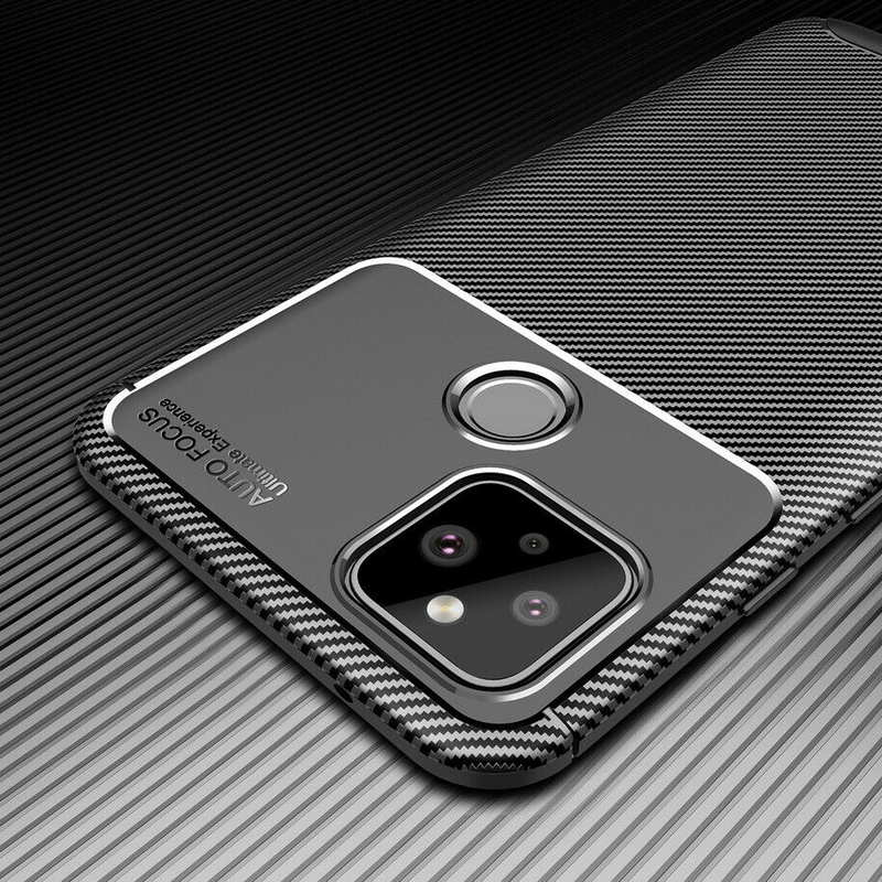 low price For Google Pixel 4a (4G) Case Carbon Fiber Slim Soft TPU Cover