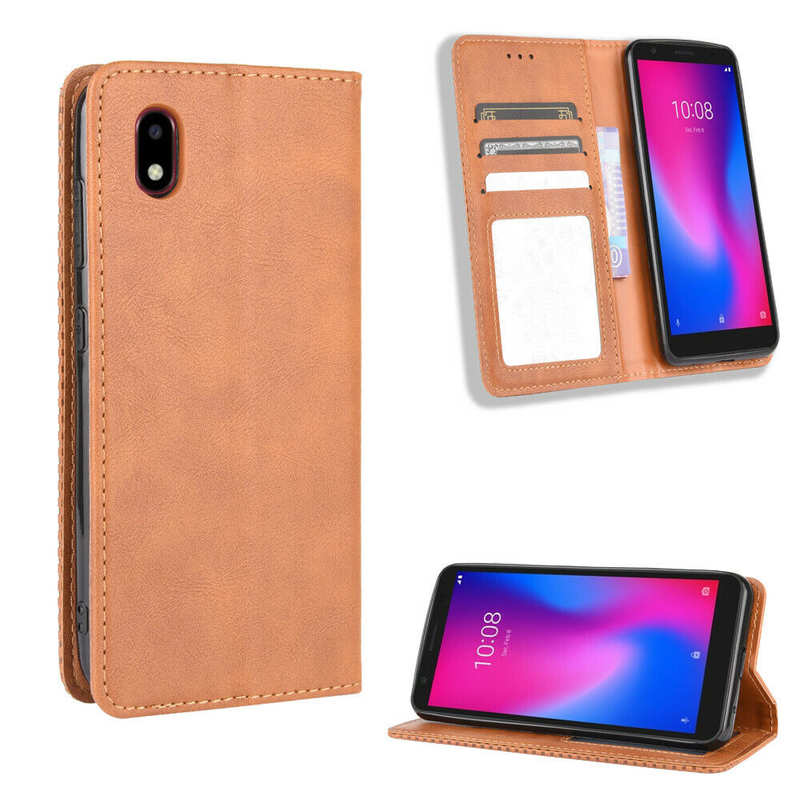 china wholesale For Consumer Cellular ZTE Avid 579 Z5156CC Wallet Case Leather Card Stand Cover