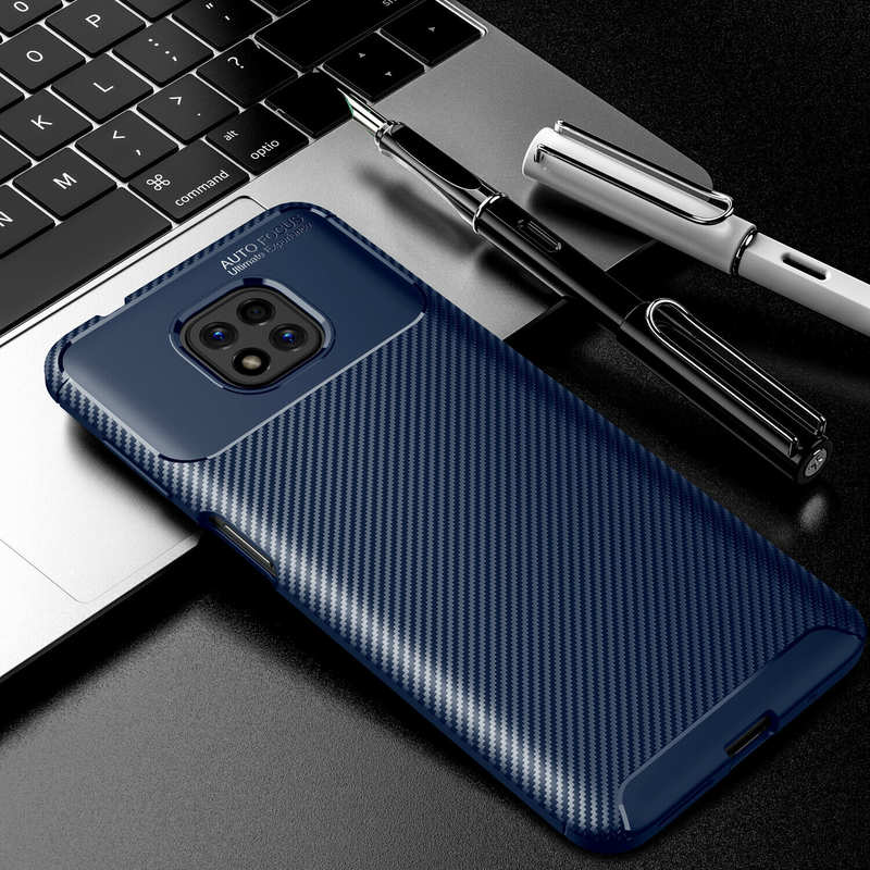 wholesale For Motorola Moto G Power Play Stylus 2021 Case Slim Carbon Fiber Soft TPU Cover