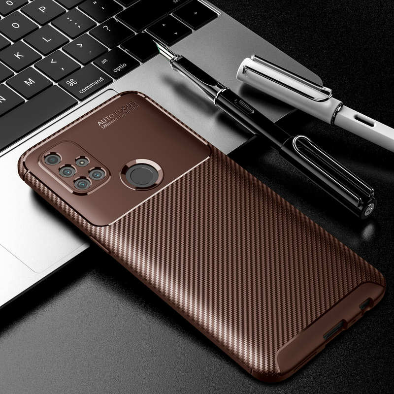 low price For OnePlus Nord N10 5G N100 Phone Case Rubber Carbon Fiber Protective Cover
