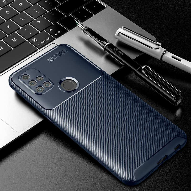 high quanlity For OnePlus Nord N10 5G N100 Phone Case Rubber Carbon Fiber Protective Cover