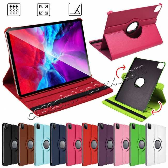 wholesale For iPad Pro 11 Case 2021 360° Rotating Leather Flip Cover Smart Stand