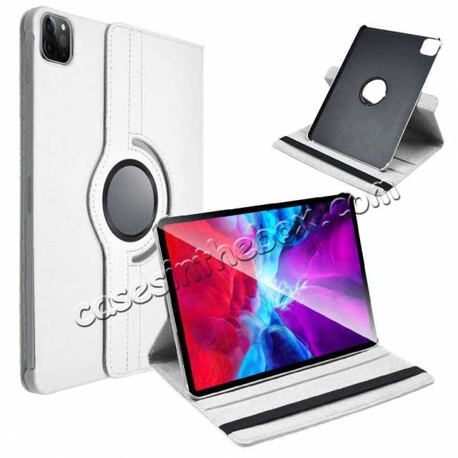 discount For iPad Pro 11 Case 2021 360° Rotating Leather Flip Cover Smart Stand
