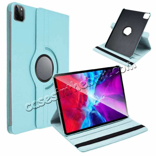 top quality For iPad Pro 11 Case 2021 360° Rotating Leather Flip Cover Smart Stand