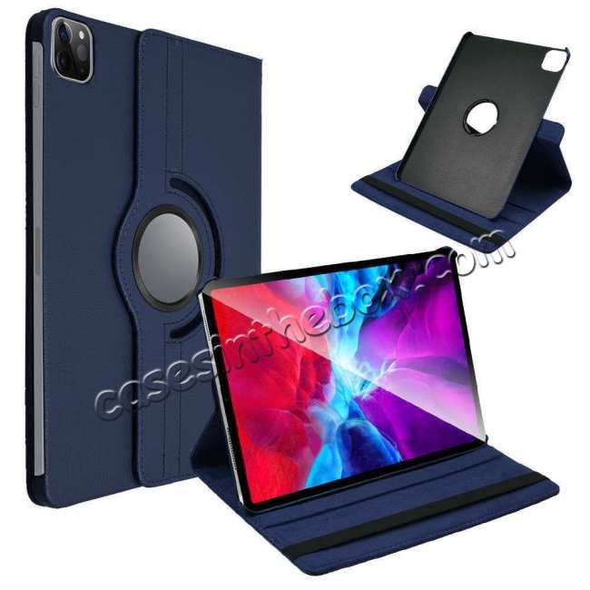 best price For iPad Pro 11 Case 2021 360° Rotating Leather Flip Cover Smart Stand