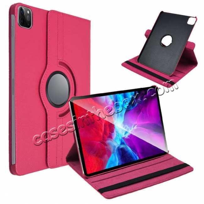 on sale For iPad Pro 11 Case 2021 360° Rotating Leather Flip Cover Smart Stand