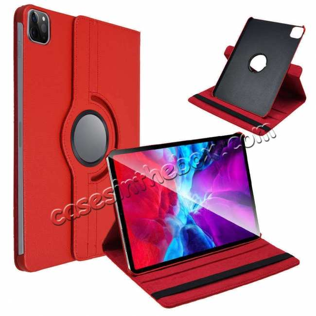 low price For iPad Pro 11 Case 2021 360° Rotating Leather Flip Cover Smart Stand