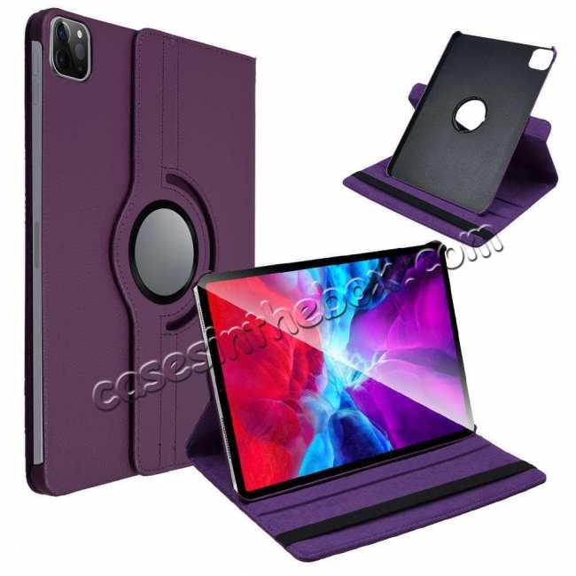 high quanlity For iPad Pro 11 Case 2021 360° Rotating Leather Flip Cover Smart Stand