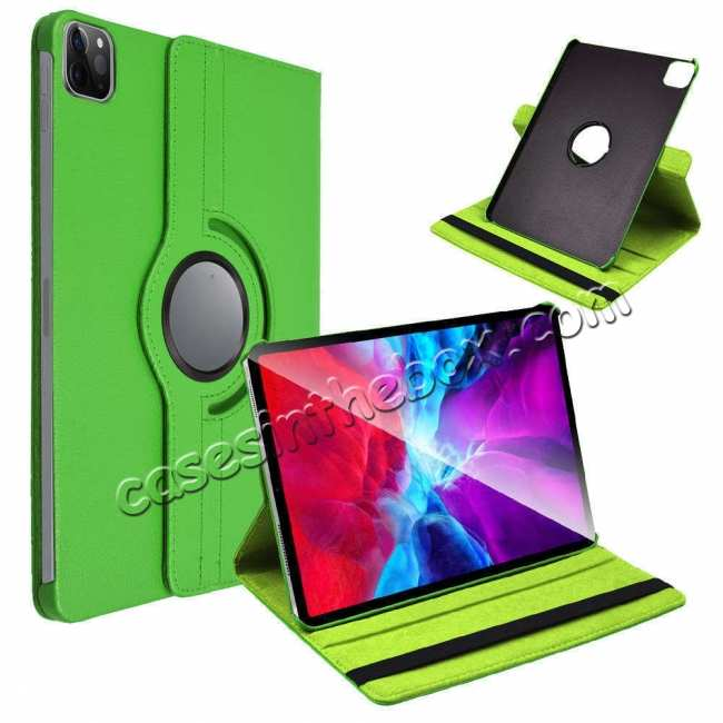 china wholesale For iPad Pro 11 Case 2021 360° Rotating Leather Flip Cover Smart Stand