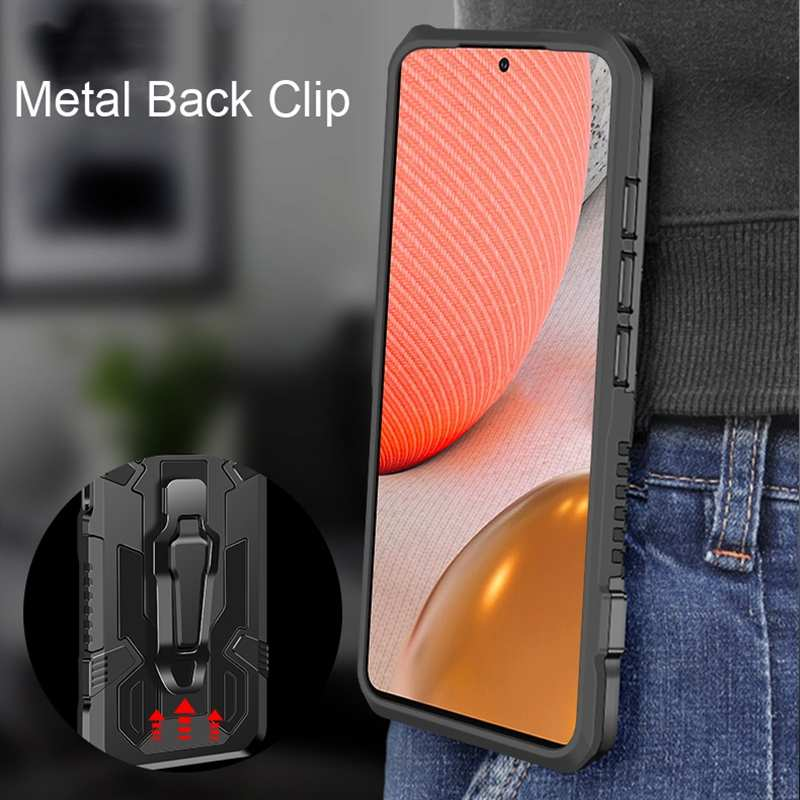 top quality For Samsung Galaxy A42 5G Case Shockproof Stand Cover With Belt Clip